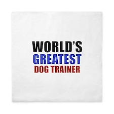 Dog trainer designs Queen Duvet