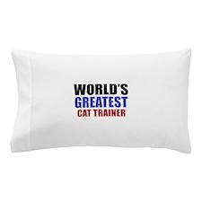 cat trainer designs Pillow Case