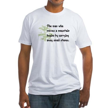 Chinese proverb Fitted T-Shirt