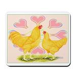 Buff Chantecler Hearts Mousepad