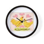 Buff Chantecler Hearts Wall Clock