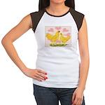 Buff Chantecler Hearts Women's Cap Sleeve T-Shirt
