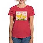 Buff Chantecler Hearts Women's Dark T-Shirt