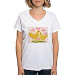 Buff Chantecler Hearts Women's V-Neck T-Shirt