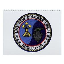 Uss New Orleans & Apollo 14 Wall Calendar