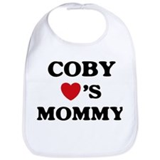 Coby loves mommy Bib
