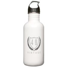 40th Birthday Laurels Water Bottle