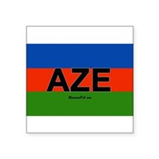 "Cute Azerbaijan Square Sticker 3"" x 3"""