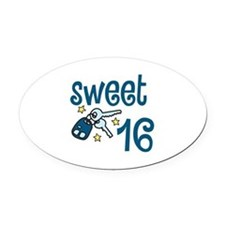Sweet 16 Oval Car Magnet