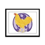 Buff Chantecler Cock Framed Panel Print