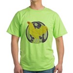 Buff Chantecler Cock Green T-Shirt