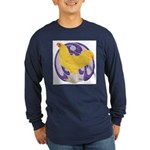 Buff Chantecler Cock Long Sleeve Dark T-Shirt
