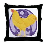 Buff Chantecler Cock Throw Pillow