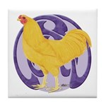 Buff Chantecler Cock Tile Coaster