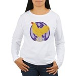 Buff Chantecler Cock Women's Long Sleeve T-Shirt
