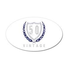 50th Birthday Laurels 35x21 Oval Wall Decal