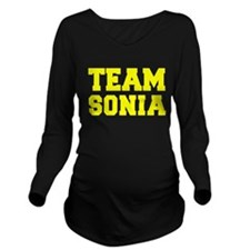TEAM SONIA Long Sleeve Maternity T-Shirt