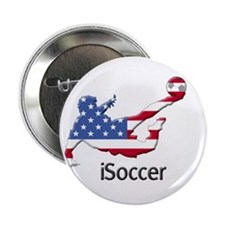 "iSoccer USA 2.25"" Button (10 pack)"