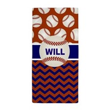 Cute Baseball theme Beach Towel