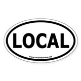 Local Oval Car Decal