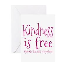 Sprinkle Kindness Pink Greeting Card