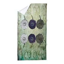 Digital Study of Dandelions Beach Towel