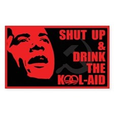 Obama Kool Aid Sticker (rectangle)