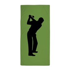 Green Golf Beach Towel