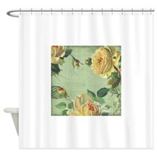 Beautiful Vintage Yellow Rose Shower Curtain For