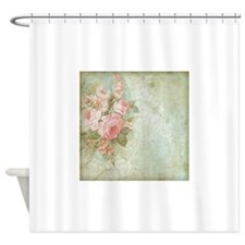 Chic vintage pink rose Shower Curtain