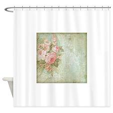 Chic vintage pink rose Shower Curtain
