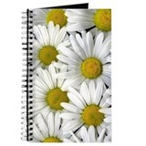 White Daisy Flower Journal