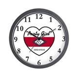 Party Girl Arkansas Wall Clock