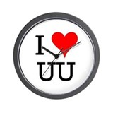 I Love UU Wall Clock