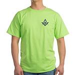 Modern Blue Lodge S&C Green T-Shirt