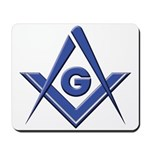 Modern Blue Lodge S&C Mousepad