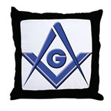 Modern Blue Lodge S&C Throw Pillow