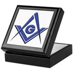 Modern Blue Lodge S&C Keepsake Box