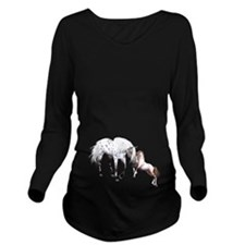Horses Love Forever Long Sleeve Maternity T-Shirt