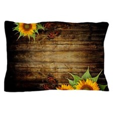 Butterflies And Sunflowers Pillow Case