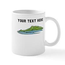 Custom Alligator In Water Mugs
