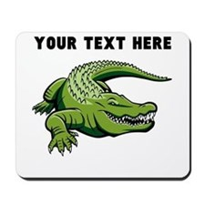 Custom Green Alligator Mousepad
