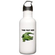 Custom Green Alligator Water Bottle