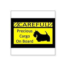 "Cute Scottish terrier dog breed Square Sticker 3"" x 3"""