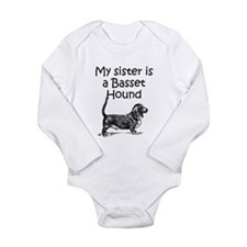 My Sister Is A Basset Hound Body Suit
