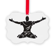 Soccer Goal Celebration Picture Ornament
