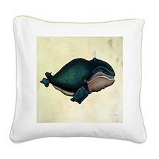 North Atlantic Right Whale Ca Square Canvas Pillow