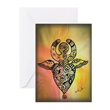 Winged Goddess Greeting Cards