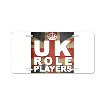 UK Role Players Aluminum License Plate