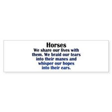 Unique Horse quote Bumper Sticker